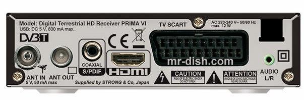Strong PRIMA VI HD Satellite Receiver Software