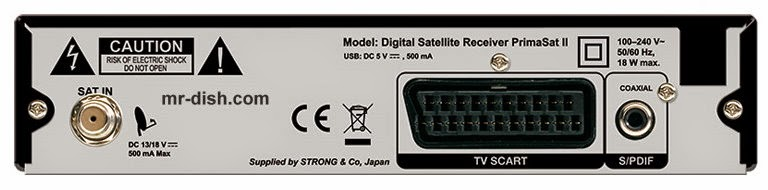 Strong PrimaSat II Digital Satellite Receiver Software