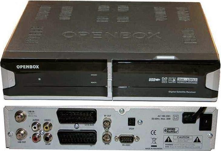 Openbox X770 CI PVR Satellite Receiver Software