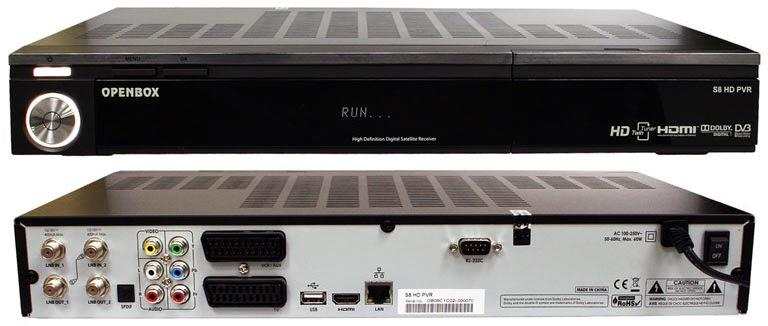 OpenBox S8 HD PVR Satellite Receiver Software