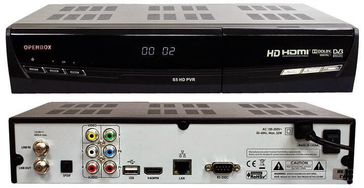 OpenBox S5 HD PVR Satellite Receiver Software