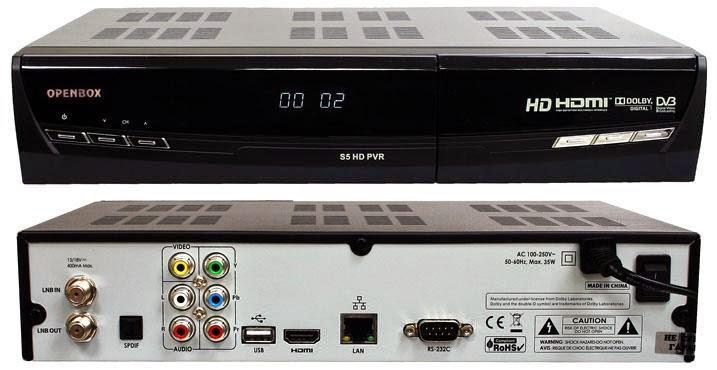 OpenBox S5 HD PVR Satellite Receiver Software