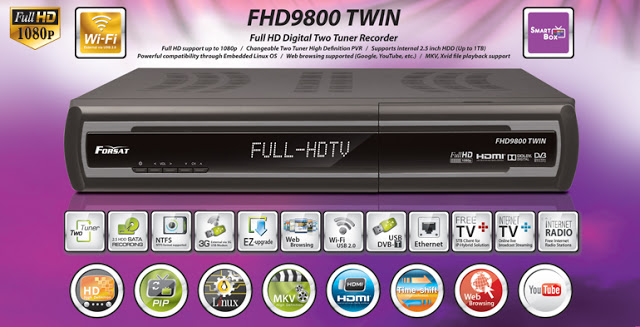 Forsat FHD9800 TWIN Receiver Software, Tools