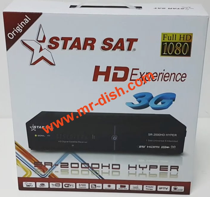 STAR SAT SR-2000 HD HYPER NEW AUTOROLL POWERVU SOFTWARE