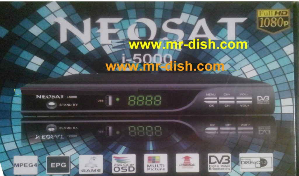HOW TO OPEN CCCAM OPTION NEOSAT I-5000 HD RECEIVER - Mr-Dish