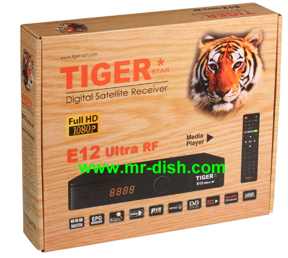 TIGER E12 ULTRA RF Satellite Receiver New Software, Tools