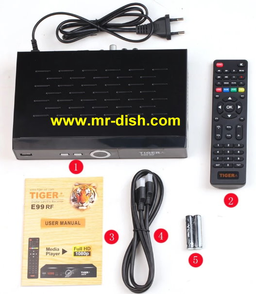 TIGER E99 RF Satellite Receiver New Software, Tools