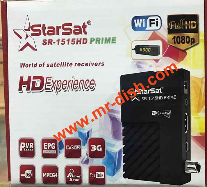 STARSAT SR-1515 PRIME HD NEW AUTOROLL POWERVU SOFTWARE