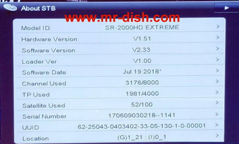 STARSAT SR-2000HD EXTREME NEW POWERVU SOFTWARE