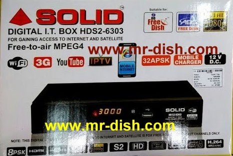 SOLID HDS2-6303 RECEIVER AUTOROLL POWERVU NEW SOFTWARE