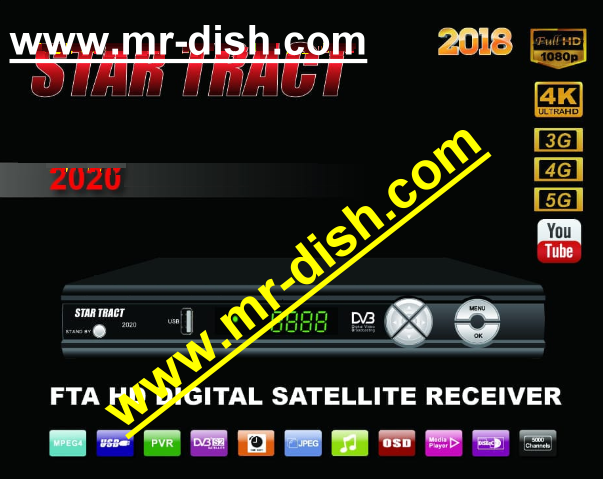 STAR TRACT 2020 HD RECEIVER CLINE OK POWERVU SOFTWARE - Mr-Dish