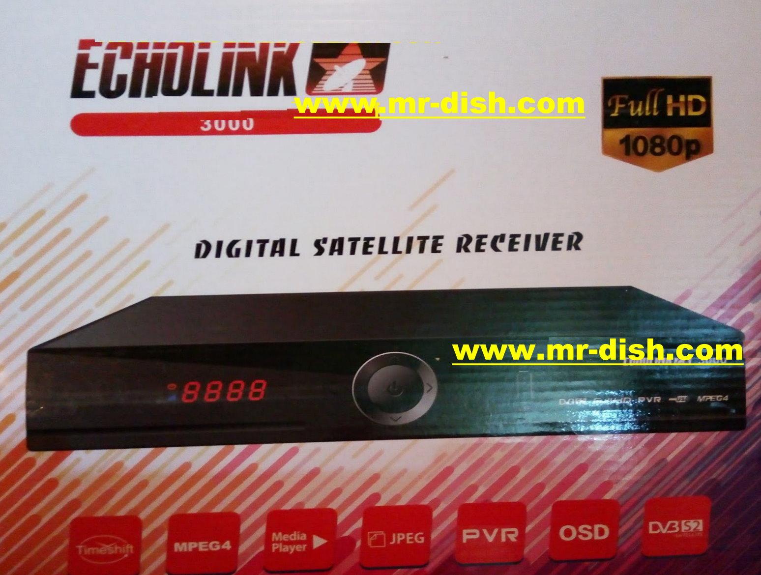 ECHOLINK 3000 HD NEW AUTOROLL POWERVU SOFTWARE