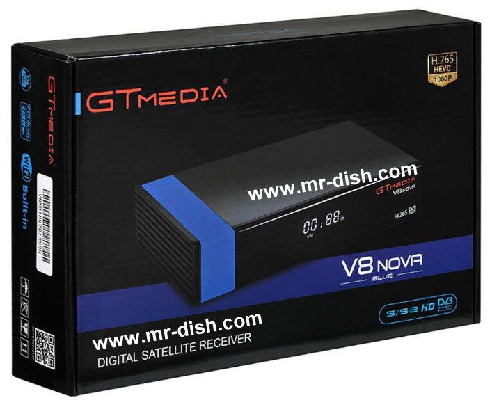 Freesat GTMedia V8 NOVA Blue New Powervu Software