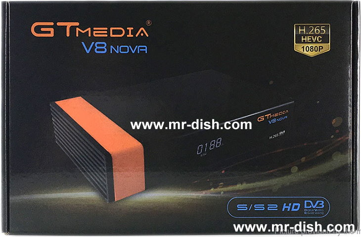 GTMedia FREESAT V8NOVA Orange Receiver New Software Autoroll Powervu