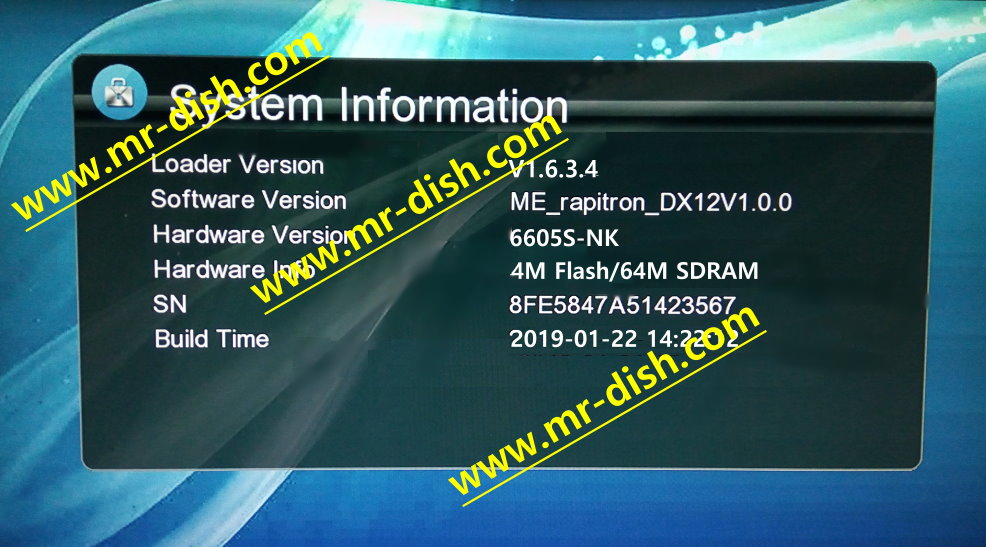 MM1G6605S-E-WJX_V1.0 BOARD RECEIVER AUTOROLL POWERVU NEW SOFTWARE