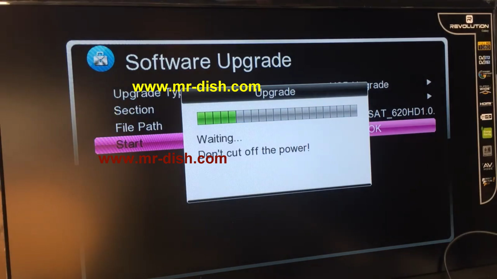 DREAMSAT 620 HD MINI RECEIVER LATEST POWERVU SOFTWARE