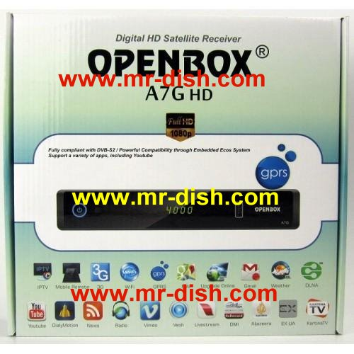 OPENBOX A7G HD Receiver New Autoroll Powervu Software