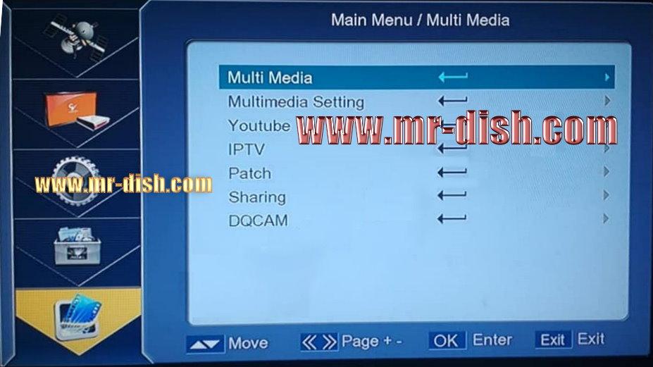SCW1 Menu Multimedia Code 1506