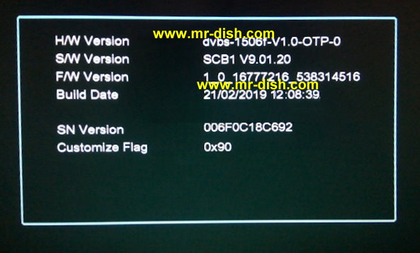 1506F SCB1 HD RECEIVER LATEST POWERVU SOFTWARE USB UPGRADE
