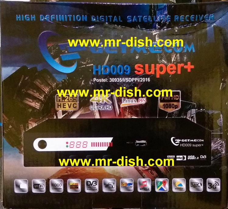 GETMECOM HD009 SUPER+ Receiver New Autoroll Powervu Software