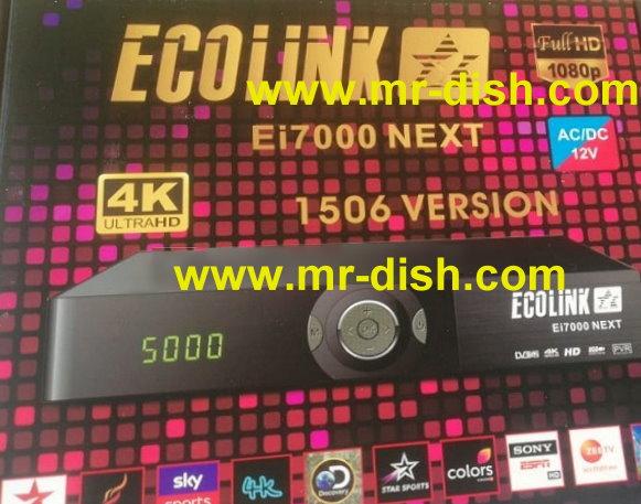 ECOLINK Ei7000 NEXT HD RECEIVER NEW AUTOROLL POWERVU SOFTWARE DSCAM OK