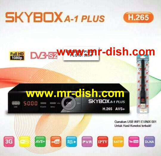 SKYBOX A-1 PLUS HD Receiver New Autoroll Powervu Software