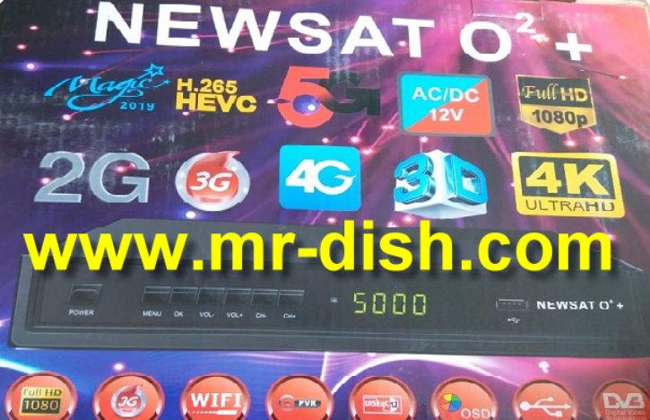 NEWSAT O2 + HD RECEIVER NEW AUTOROLL POWERVU SOFTWARE DSCAM OK