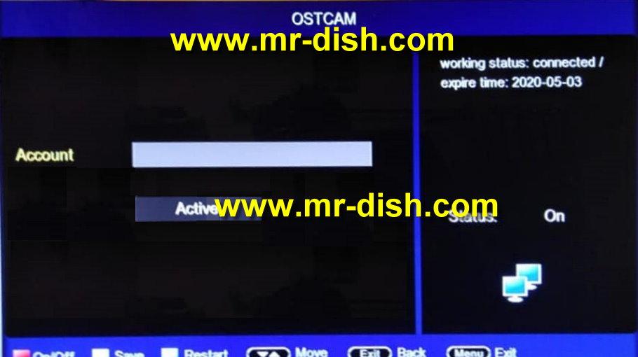 OST 1506G Protocol Black Go-to SIM Receicer Latest Powervu Software