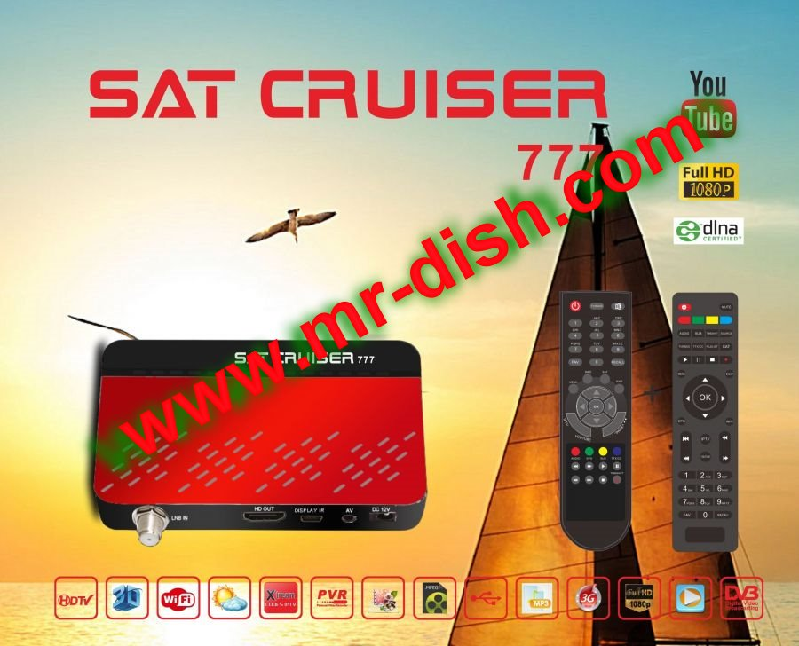 SAT CRUISER 777 HD Receiver New Powervu Software DQCAM IPTV OK