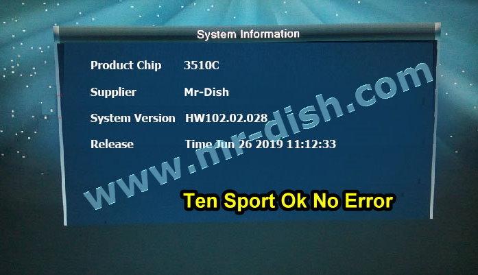 ALi3510C HW102.02.028 RECEIVER POWERVU SOFTWARE ERROR FIXD