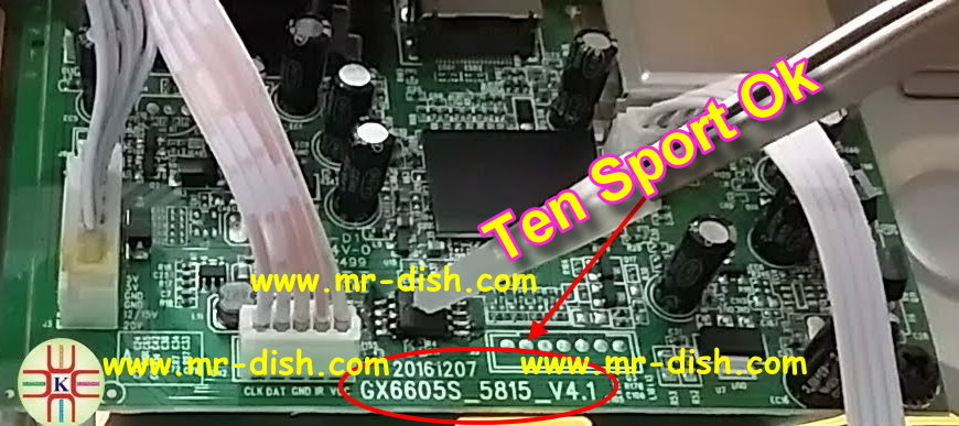 Gx6605s 5815 V4.1 Board Receiver Powervu Software Ten Sport Ok