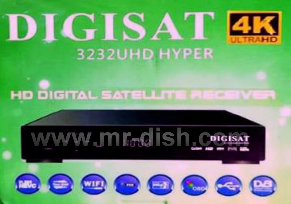 DIGISAT 3232UHD HYPER POWERVU SOFTWARE TEN SPORT OK