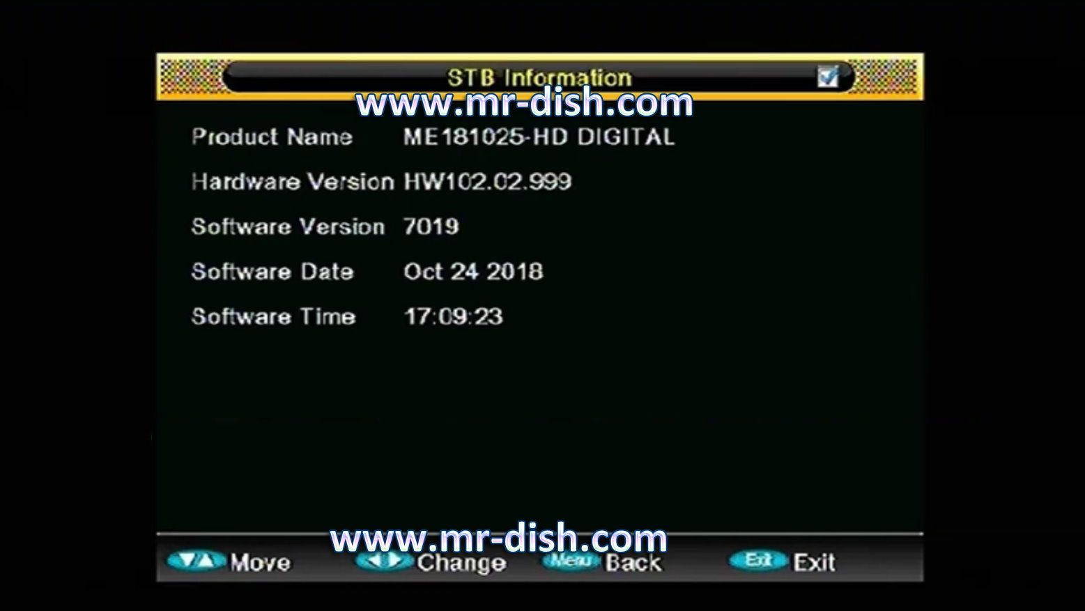 ALI 3510C HW102.02.999 RECEIVER POWERVU SOFTWARE