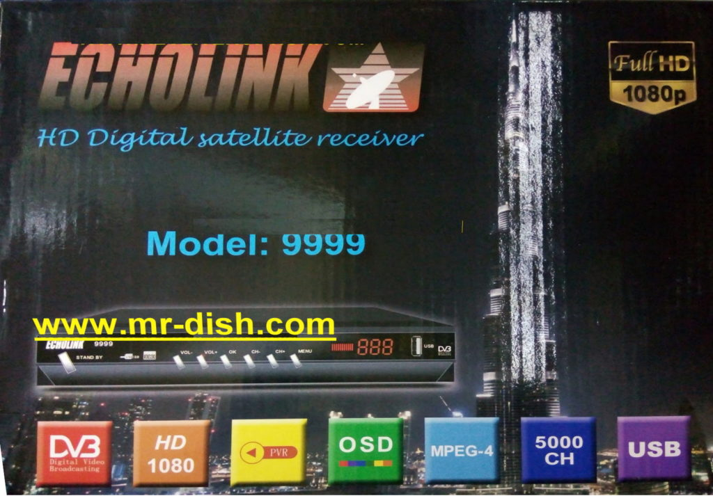 ECHOLINK MODEL 9999 HD RECEIVER POWERVU SOFTWARE