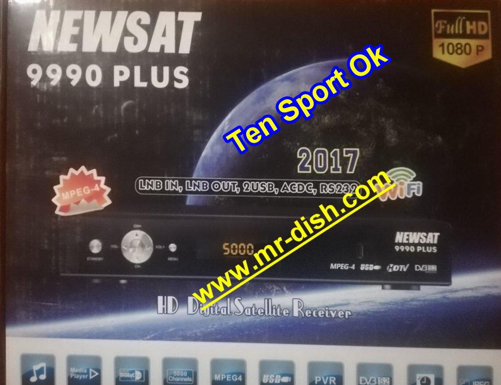NEWSAT 9990 PLUS HD POWERVU SOFTWARE TENSPORT OK