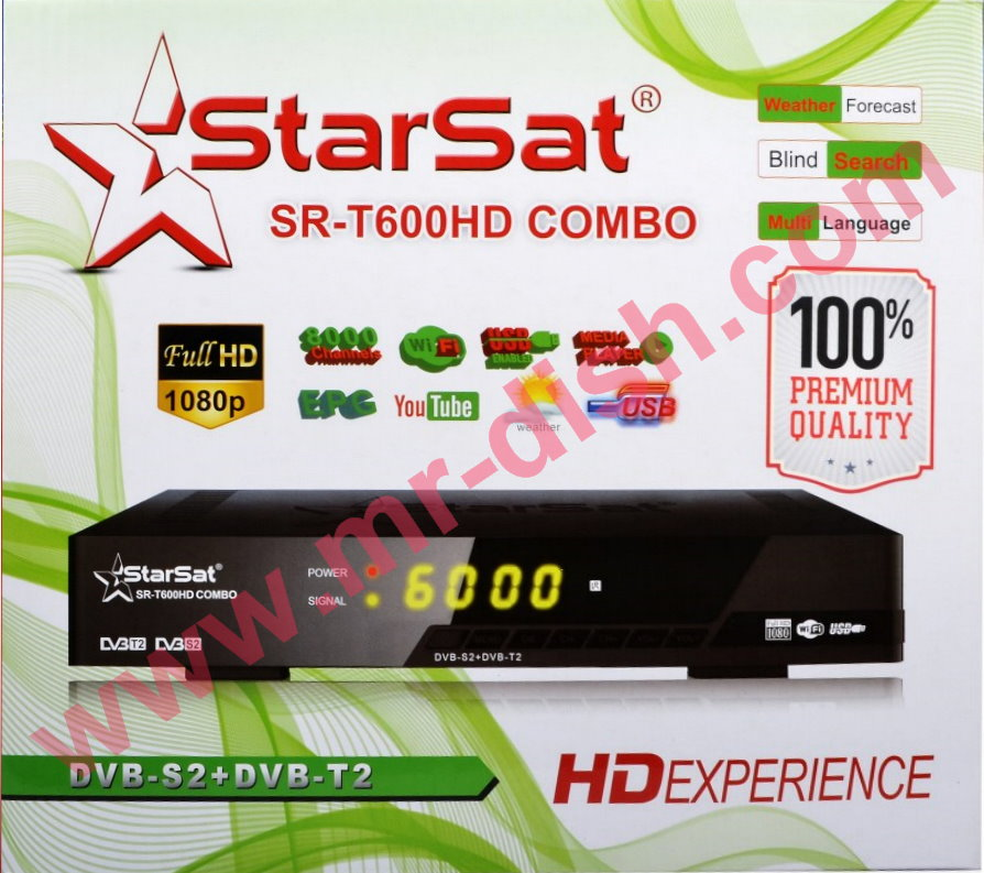 STARSAT SR-T600HD COMBO POWERVU LATEST SOFTWARE