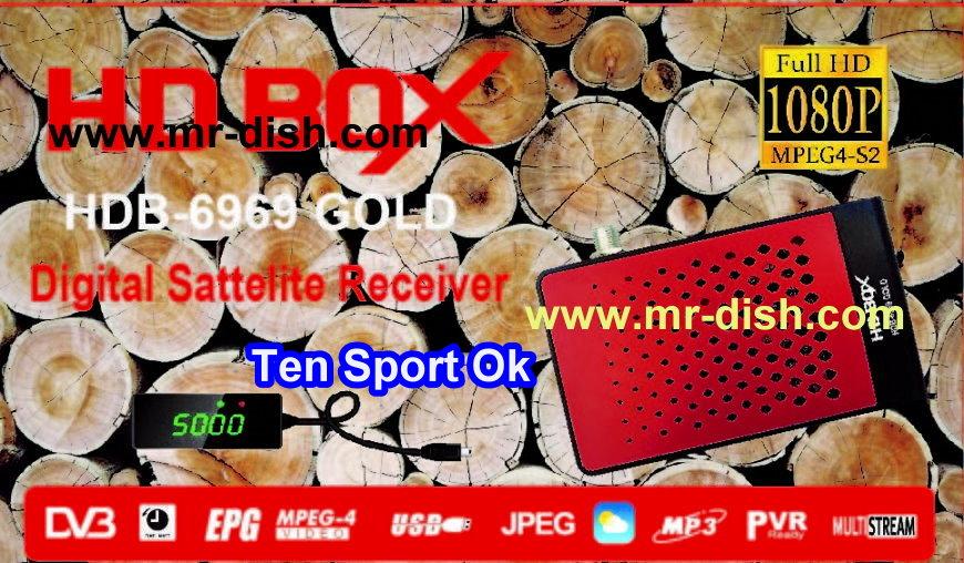 HD BOX HDB-6969 GOLD POWERVU SOFTWARE TEN SPORT OK