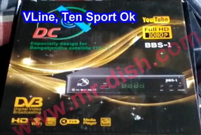 DC BBS-1 HD RECEIVER SOFTWARE VLINE & TEN SPORT OK