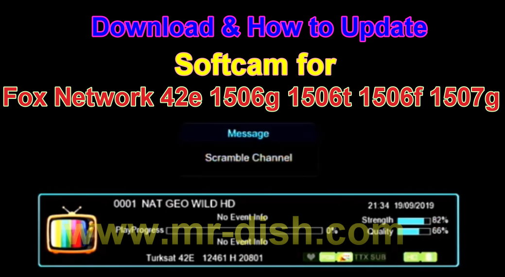 Softcam Software Tandberg key For Turksat 42e