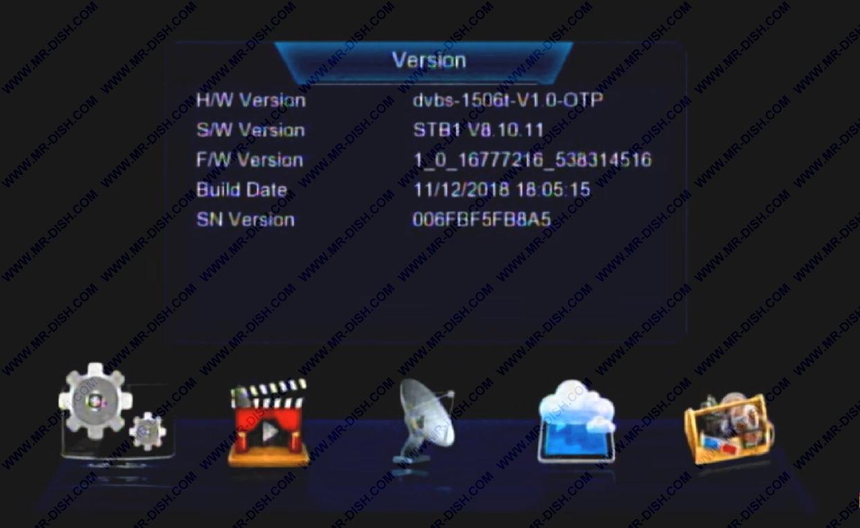 1506TV Receiver Software All Menu