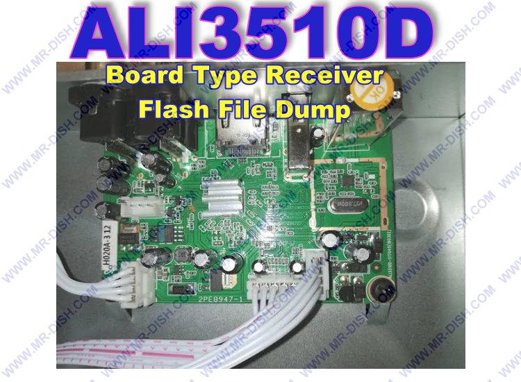 ALI3510D Board Receiver Flash File Dump