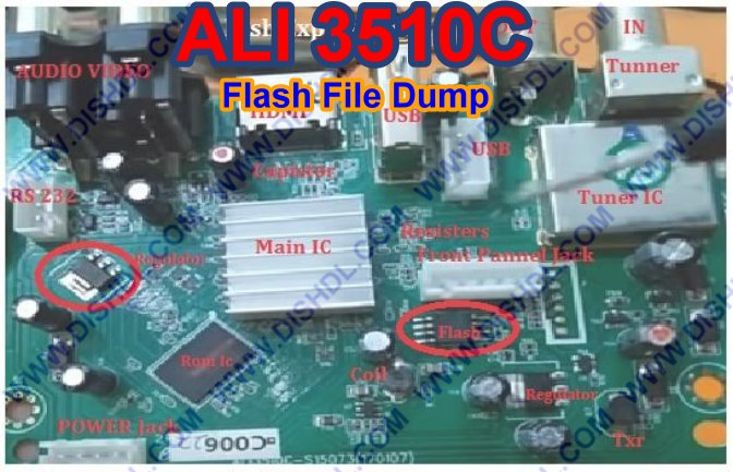 ALI3510C Board Receiver Flash File Dump