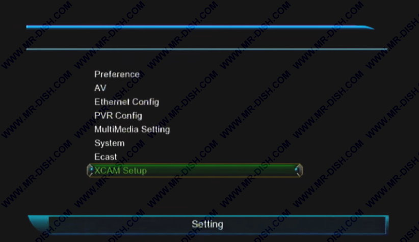 Xcam in 1507G Receiver