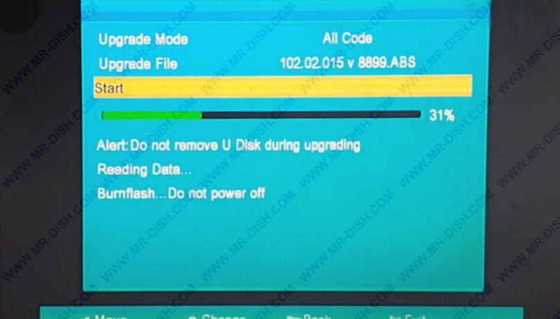 Ali 3510C HW 102.02.015 Software Update With USB