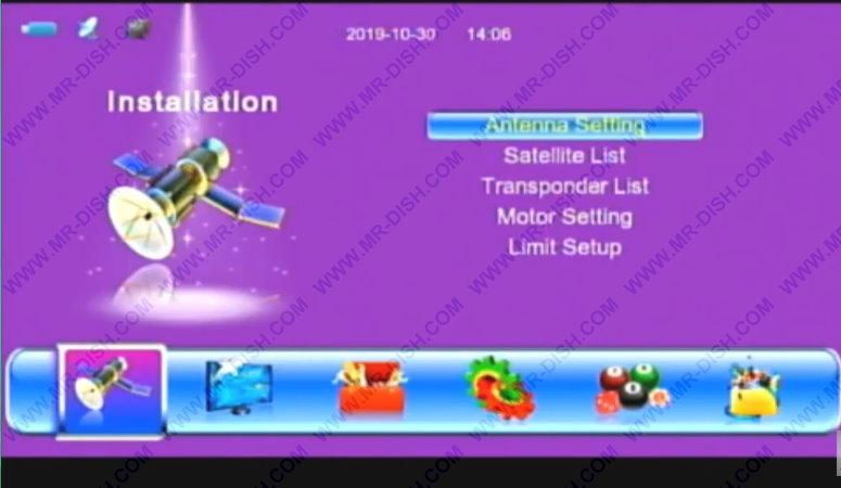 Sim Receiver With New Menu Interface